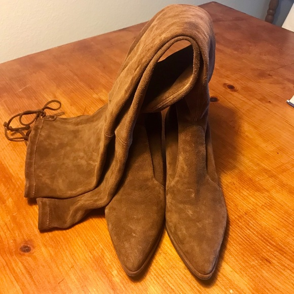 5dc73a8ce57 Stuart Weitzman Thighland Walnut Suede 6.5. M 5bc89974194dad77f61b4ca3.  Other Shoes ...
